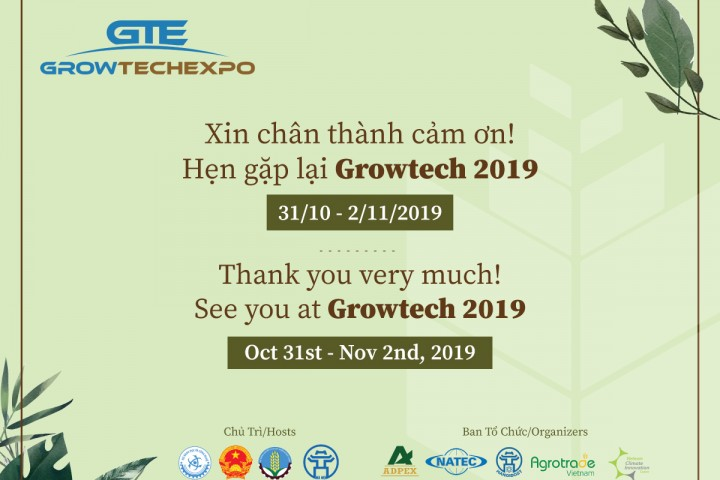 Thank you for supporting Vietnam Growtech 2018